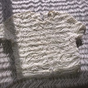 Small White lace croptop